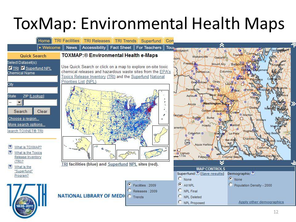 ToxMap: Environmental Health Maps 12