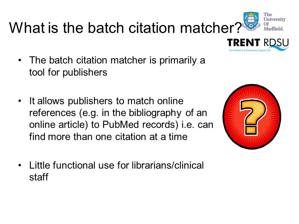 What is the batch citation matcher.