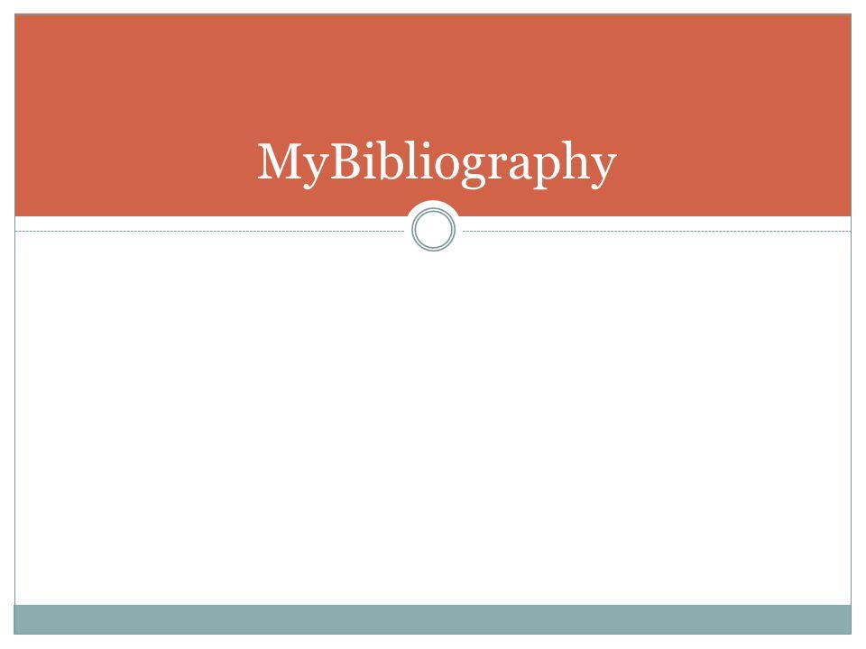 MyBibliography