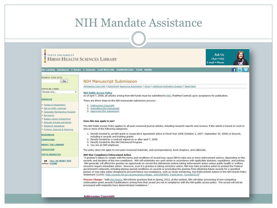 Expanding Public Access memo to major federal funding agencies, e.g., NIH, NSF, USAid, etc.