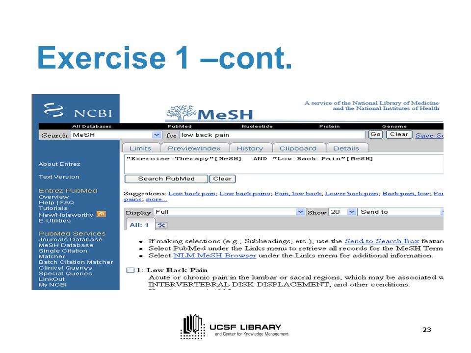 22 Exercise 1 –cont.