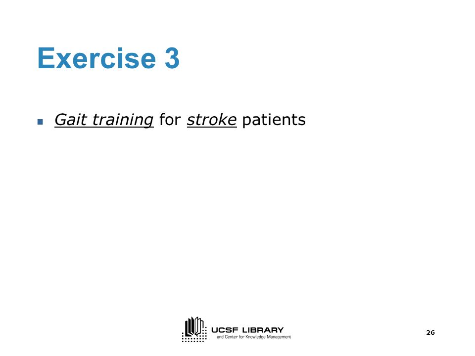 25 Exercise 2 - Prevention of dance injuries