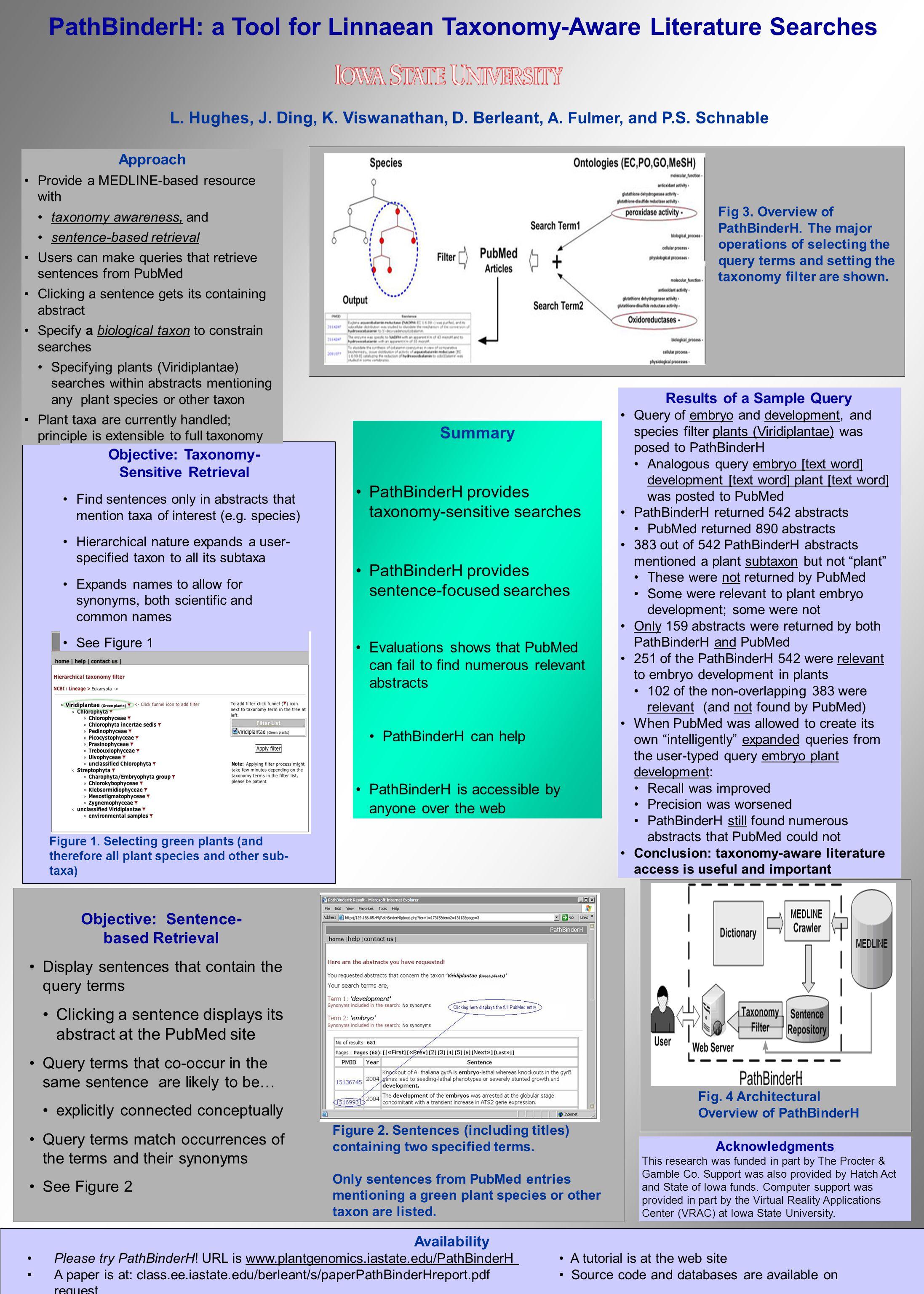 PathBinderH: a Tool for Linnaean Taxonomy-Aware Literature Searches L.