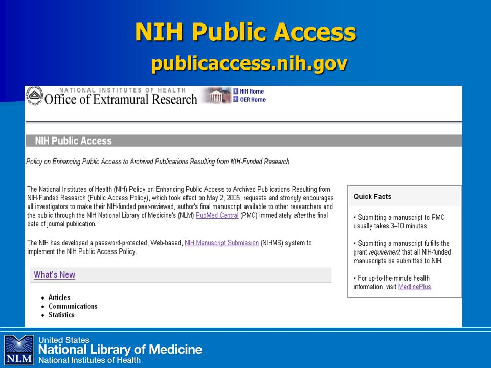 NIH Public Access publicaccess.nih.gov