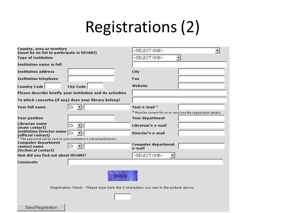Registrations (2)