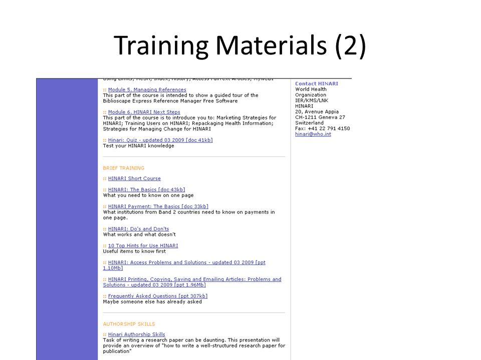Training Materials (2)