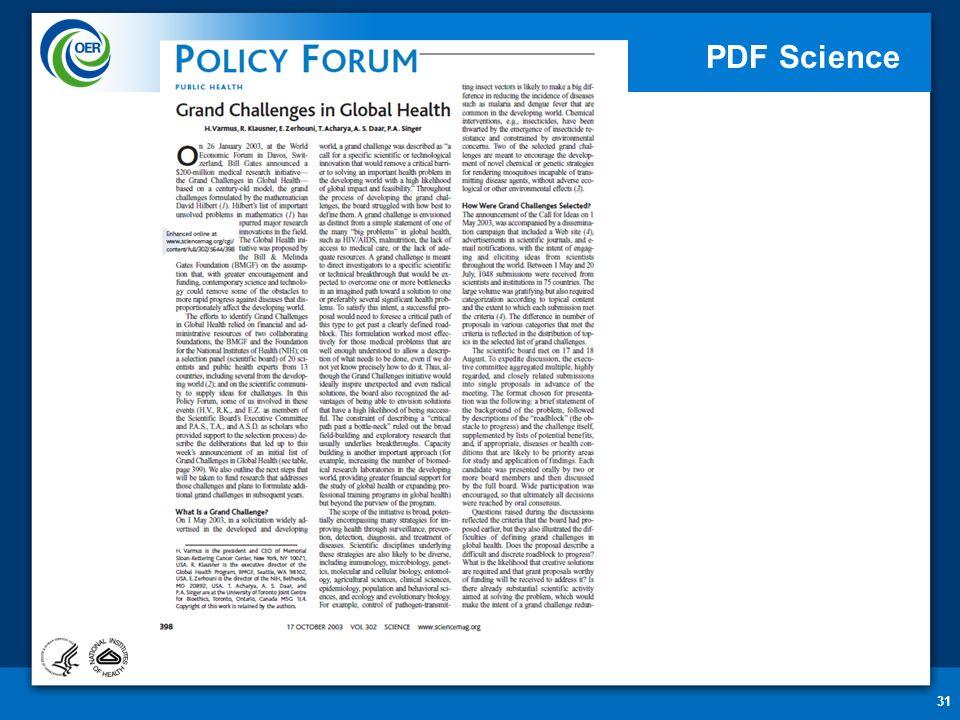31 PDF Science