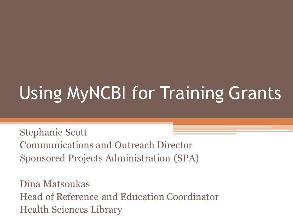 What is My NCBI.