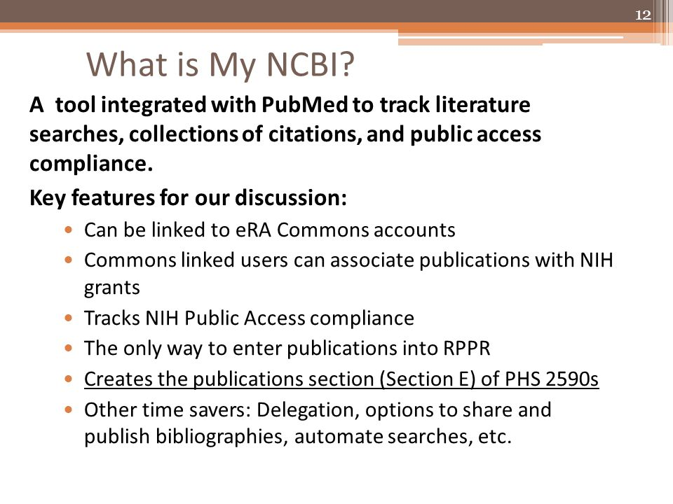 What is My NCBI.