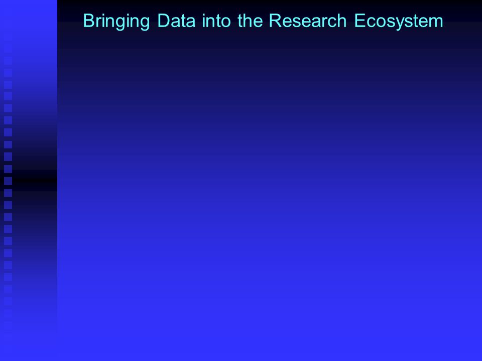 Bringing Data into the Research Ecosystem