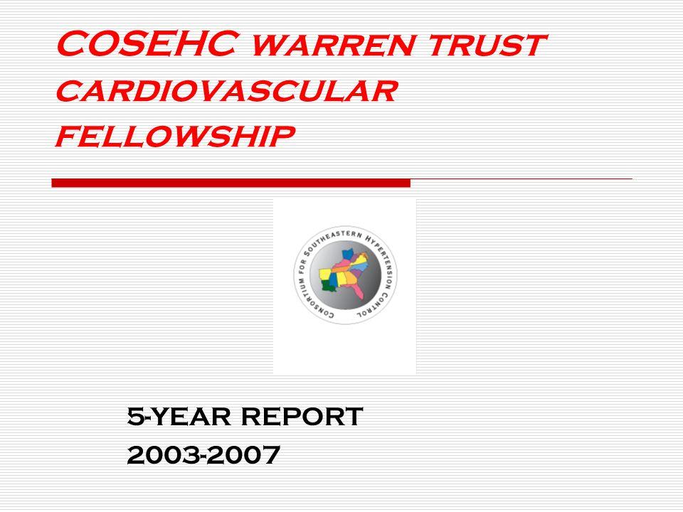 COSEHC warren trust cardiovascular fellowship 5-YEAR REPORT 2003-2007