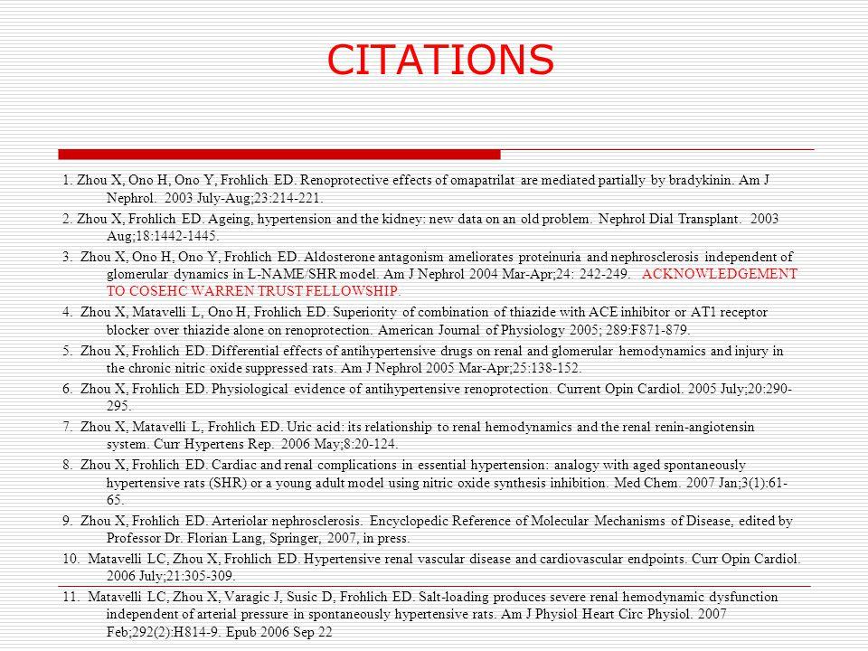 CITATIONS 1. Zhou X, Ono H, Ono Y, Frohlich ED.