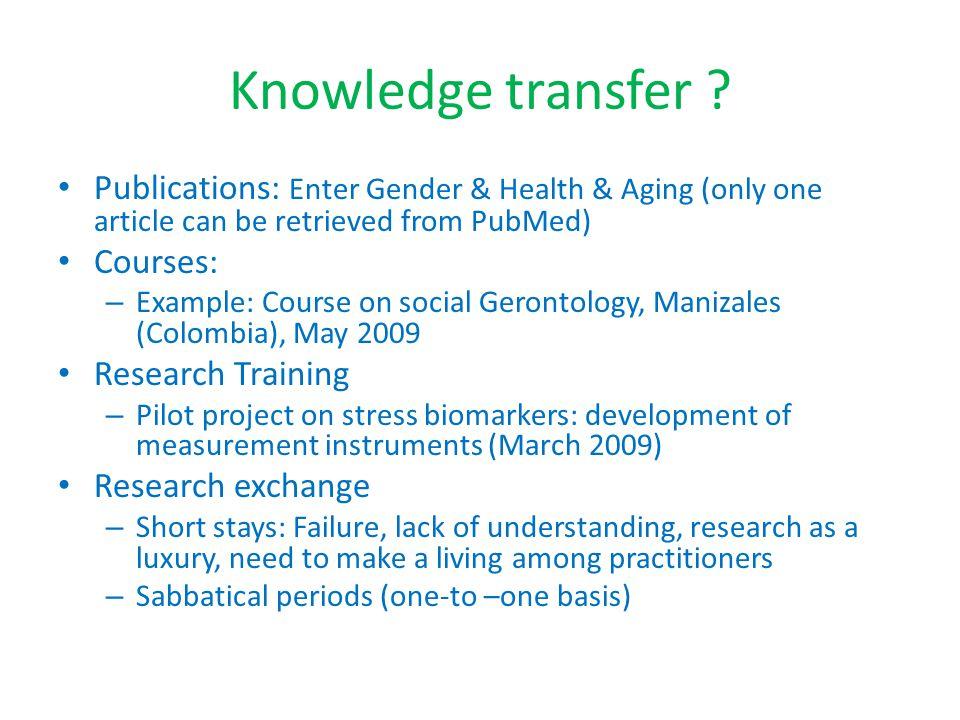 Knowledge transfer .