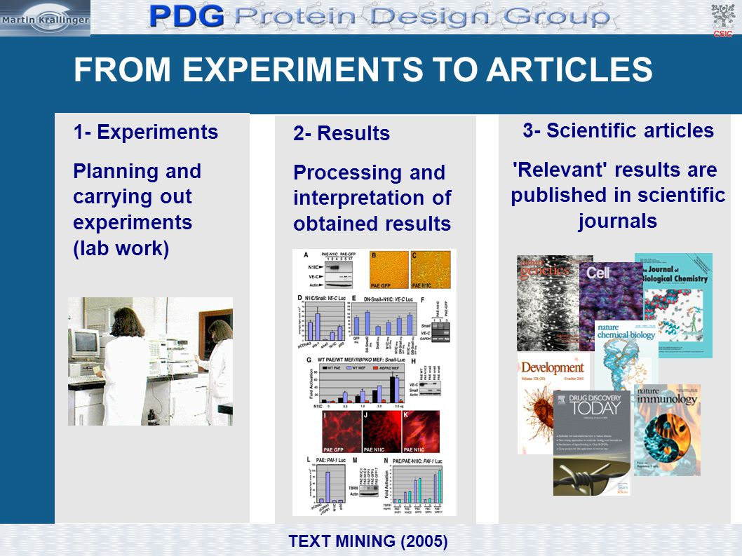 Exercises 1.2.- 1.3. : PubMed TEXT MINING (2005) 1.2.