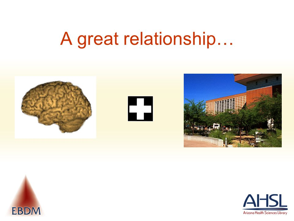 A great relationship…