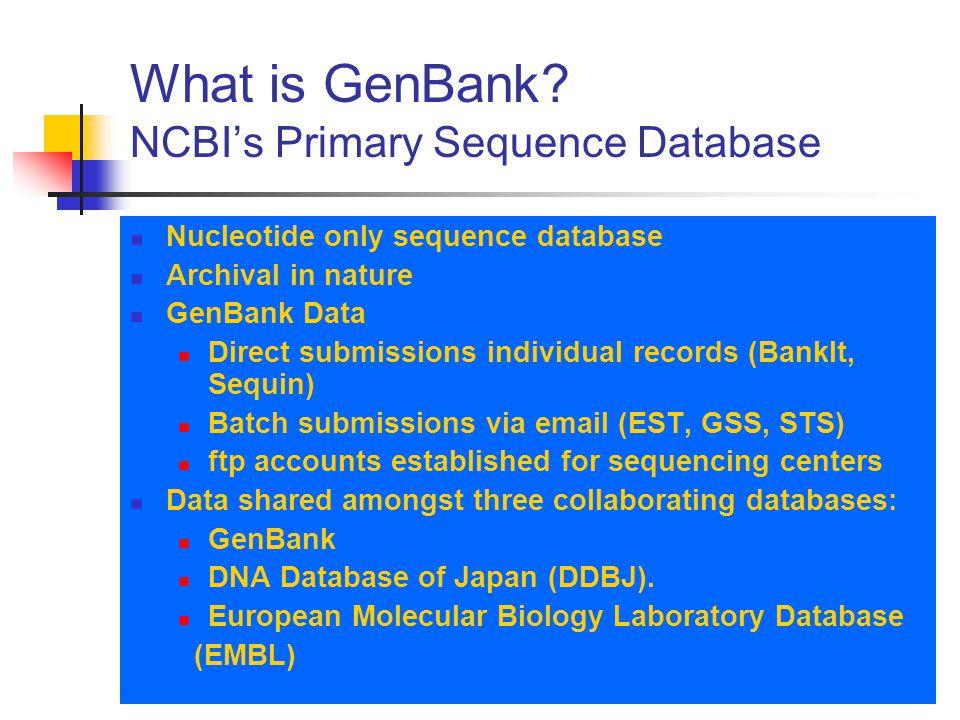What is GenBank.