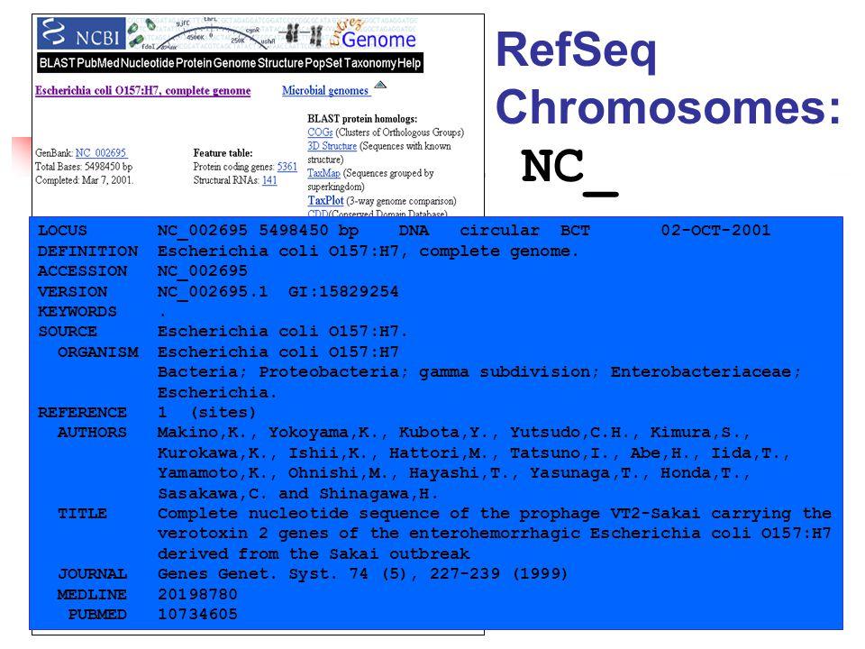 LOCUS NC_002695 5498450 bp DNA circular BCT 02-OCT-2001 DEFINITION Escherichia coli O157:H7, complete genome.