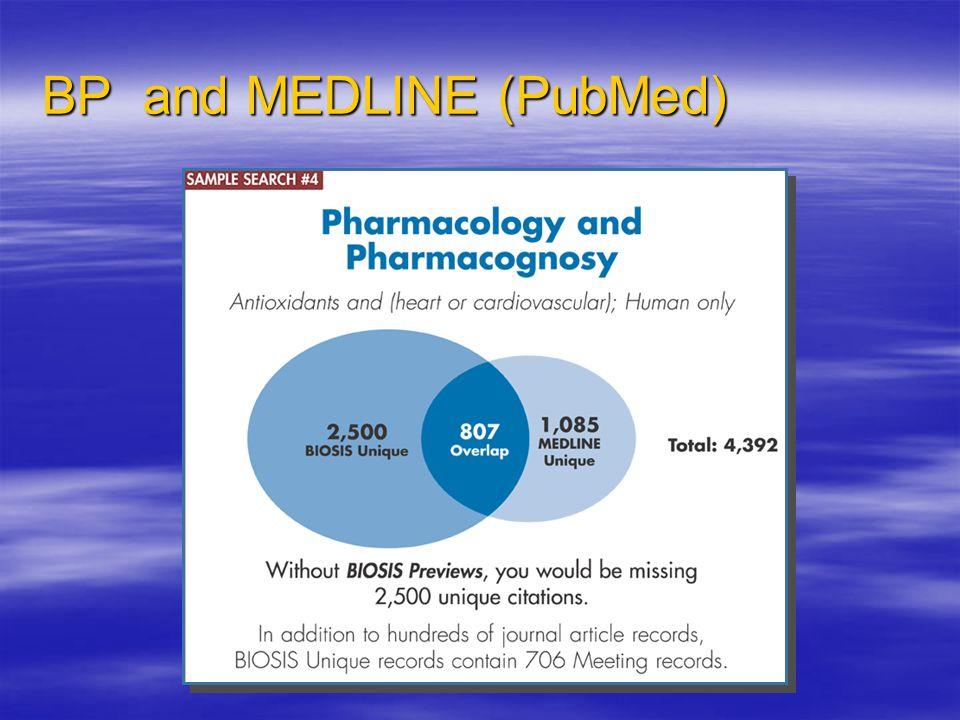 BP and MEDLINE (PubMed)