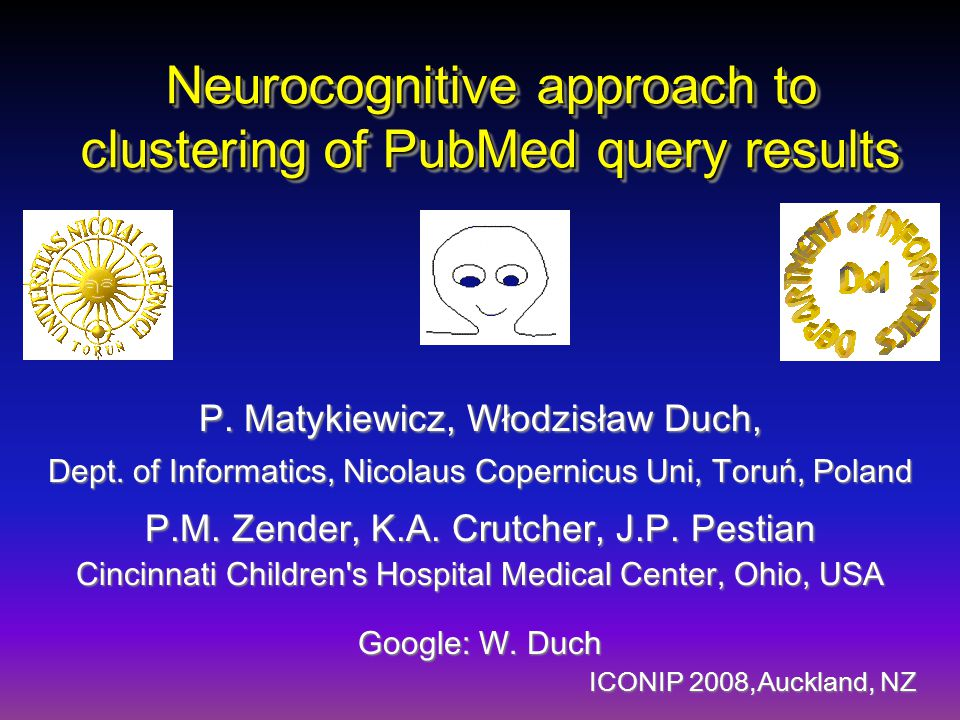 Neurocognitive approach to clustering of PubMed query results P.