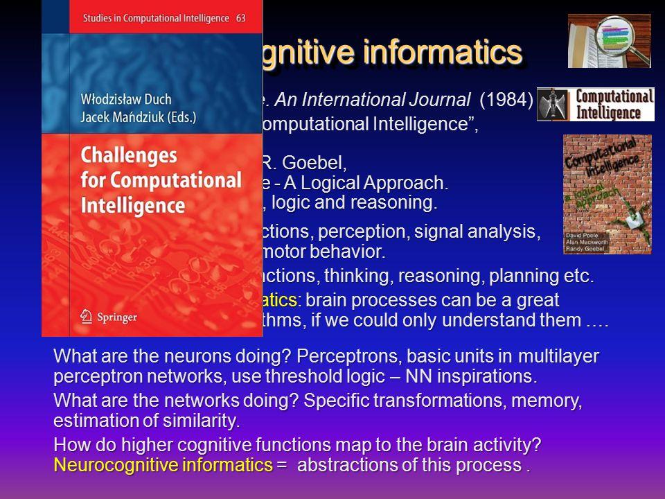 Neurocognitive informatics Computational Intelligence.