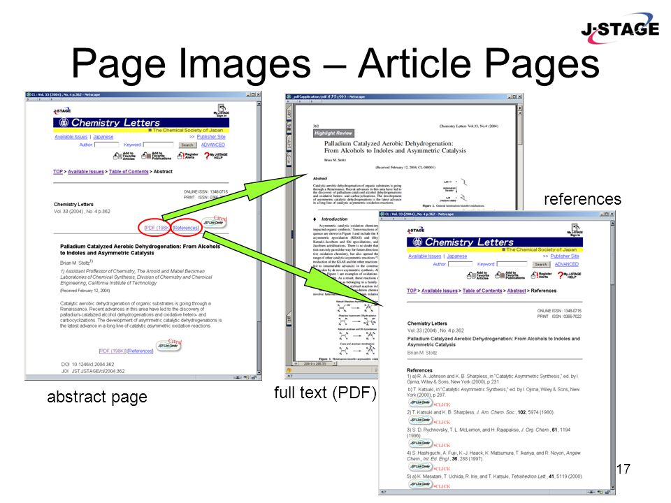 17 Page Images – Article Pages full text (PDF) abstract page references