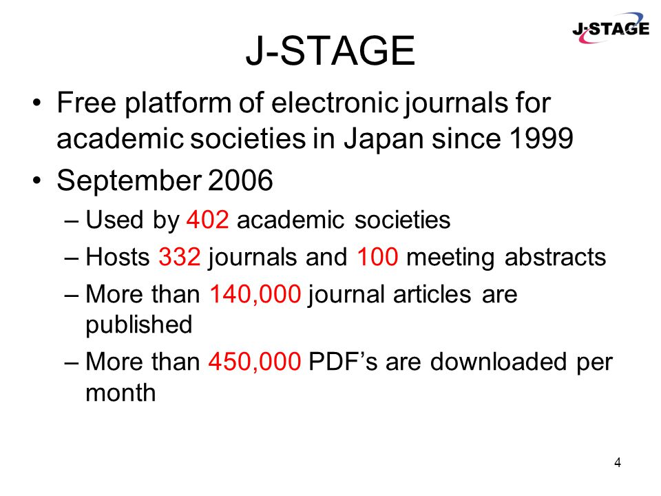 5 J-STAGE