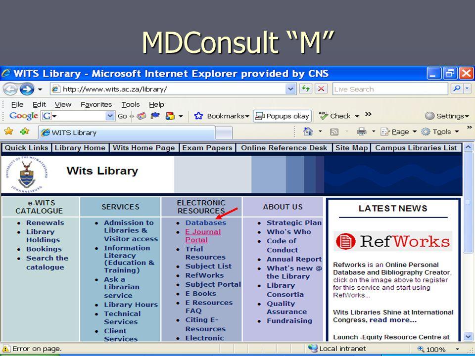 MDConsult M