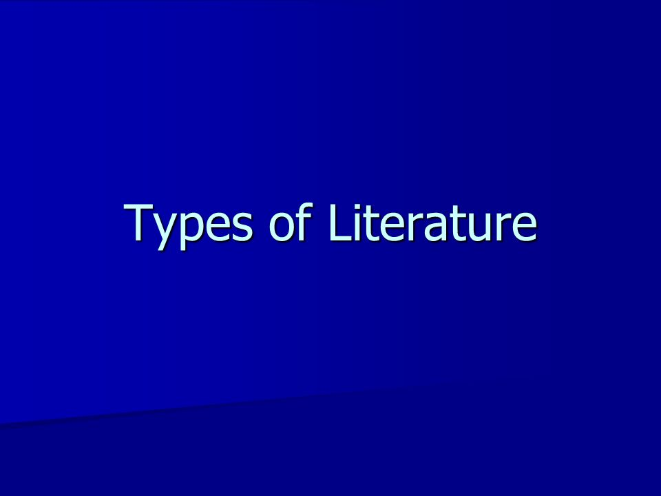 Types of literature 3 main types of drug information literature 3 main types of drug information literature –Tertiary  Interpretation of primary data –Secondary  No interpretation, just helps you find sources –Primary  Original research & analysis