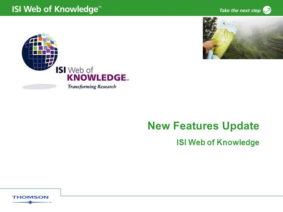 New Features Update ISI Web of Knowledge