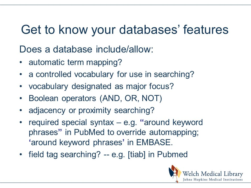 A quick bit on PubMed Clinical Queries interface Great for clinical questions.