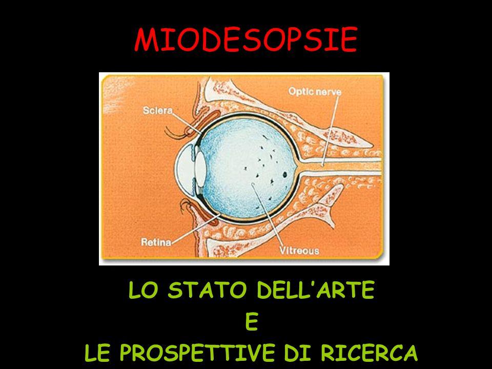 MIODESOPSIE LO STATO DELL'ARTE E LE PROSPETTIVE DI RICERCA