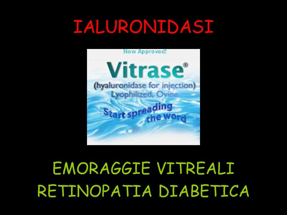 IALURONIDASI EMORAGGIE VITREALI RETINOPATIA DIABETICA