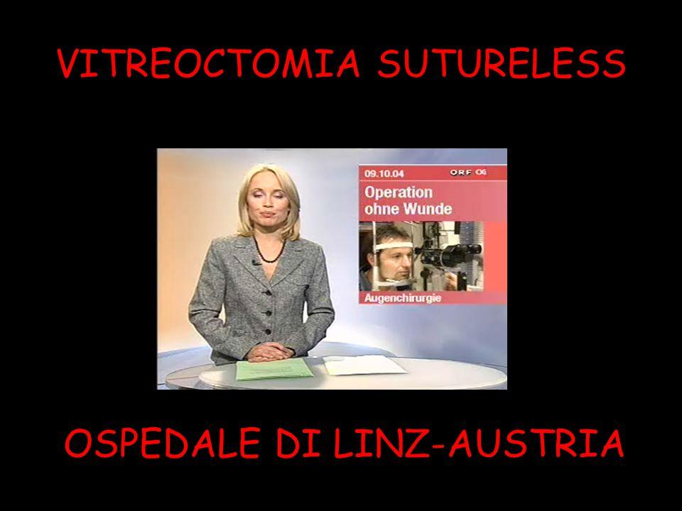 VITREOCTOMIA SUTURELESS COMPLICAZIONI POST-OPERATORIE CATARATTA 1.