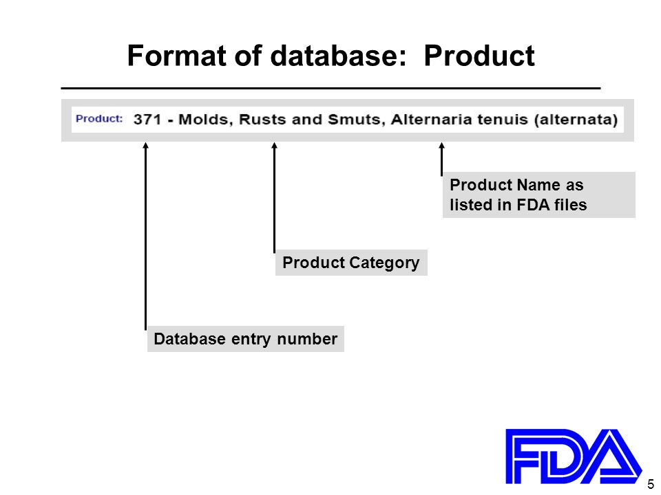 6 Format of database: Manufacturers of this Product Manufacturers of this Product Antigen Laboratories, Inc.