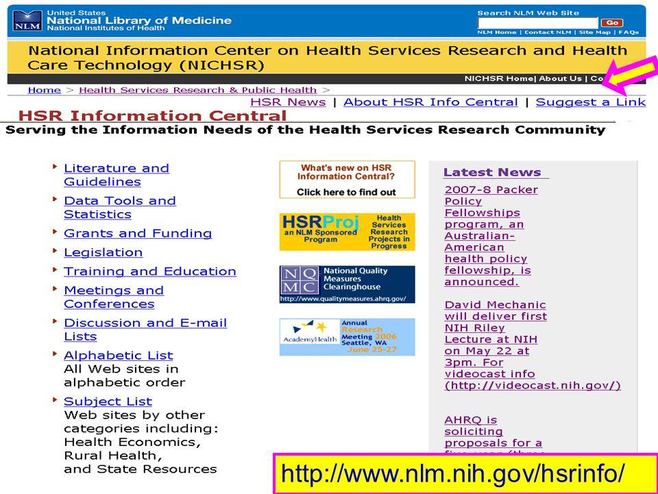 http://www.nlm.nih.gov/hsrinfo/