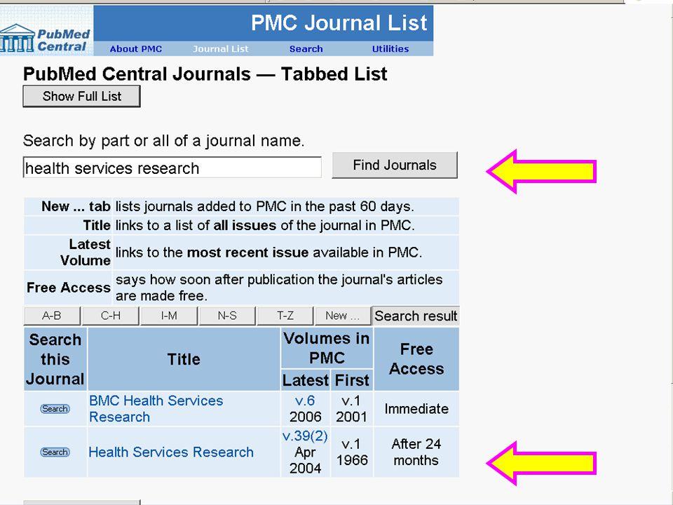 HSR in PMC