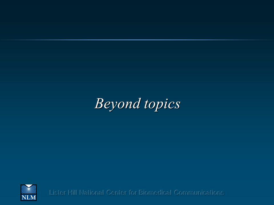 Beyond topics