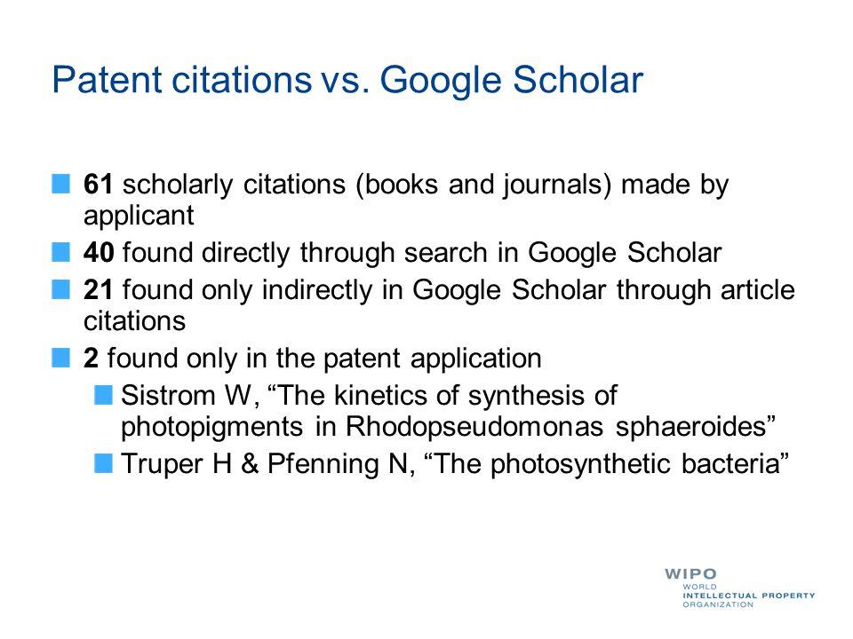 Patent citations vs.