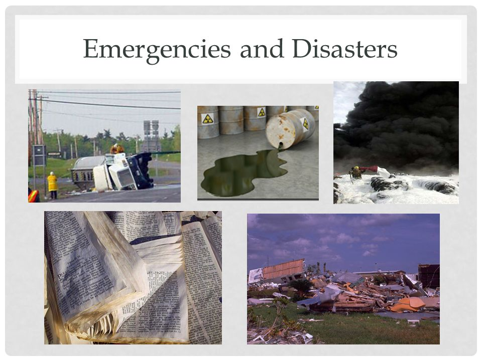 Emergencies and Disasters