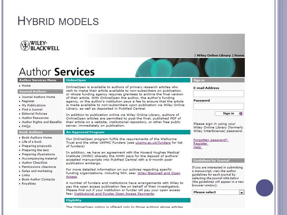 H YBRID MODELS