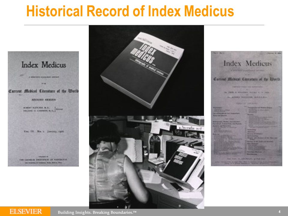 4 Historical Record of Index Medicus