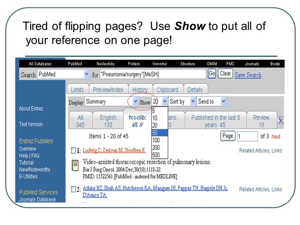 Tired of flipping pages? Use Show to put all of your reference on one page!