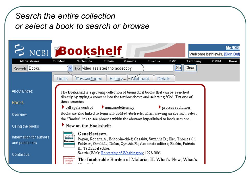 Search the entire collection or select a book to search or browse
