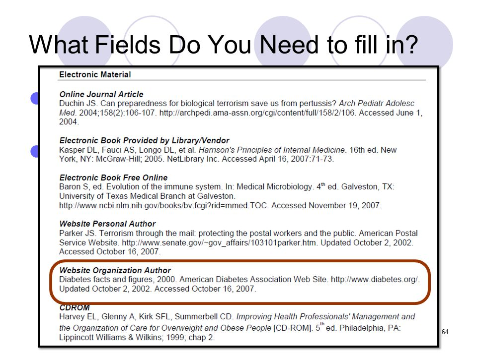 What Fields Do You Need to fill in.