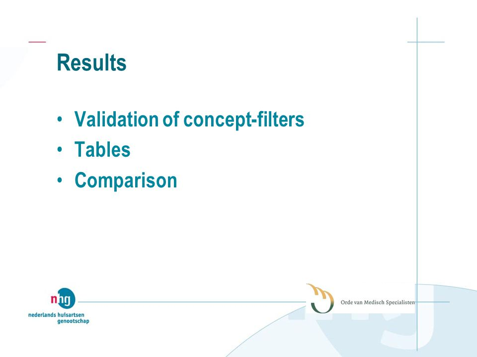 Results Validation of concept-filters Tables Comparison