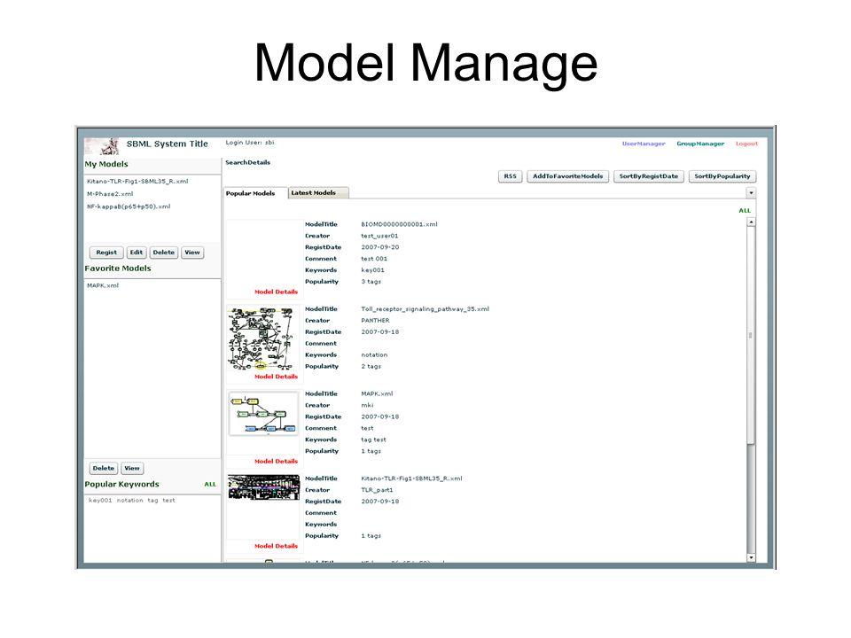 Model Manage
