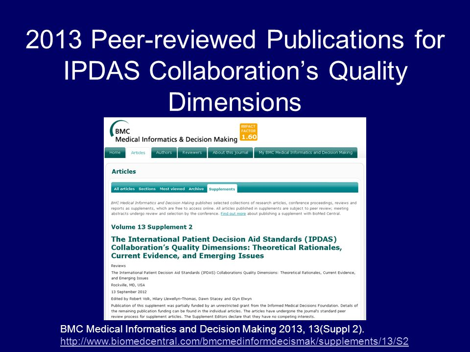 BMC Medical Informatics and Decision Making 2013, 13(Suppl 2).