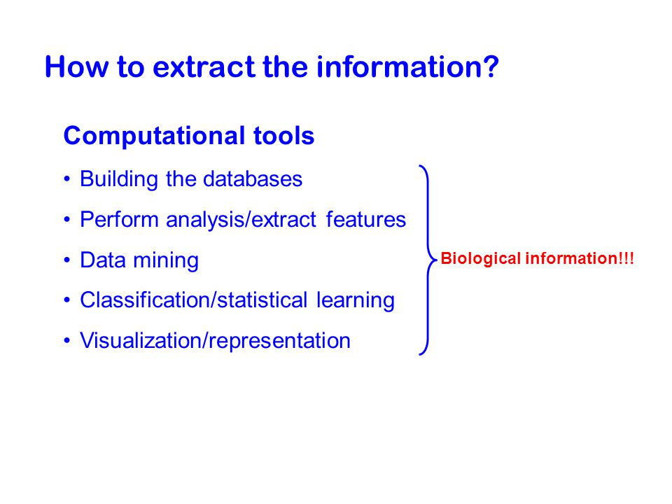 How to extract the information.