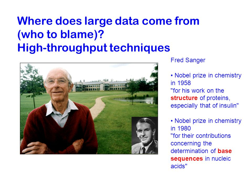 Where does large data come from (who to blame).