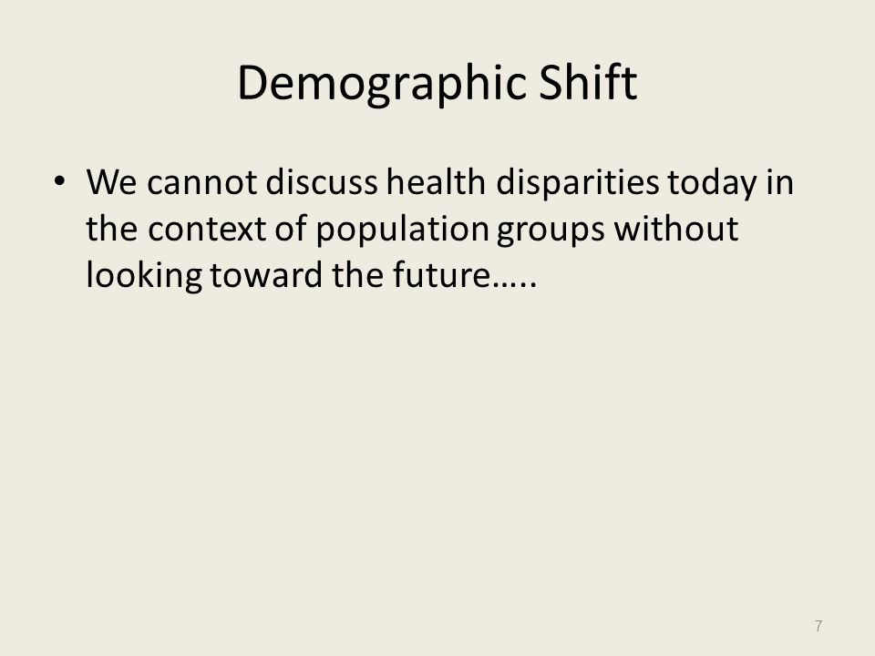 Model of Health Care Disparities The model views health care disparities as resulting from characteristics of the health care system, the society's legal and regulatory climate, discrimination, bias, stereotyping and uncertainty.